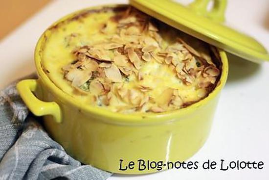 recette Clafoutis brocolis, ricotta, amandes