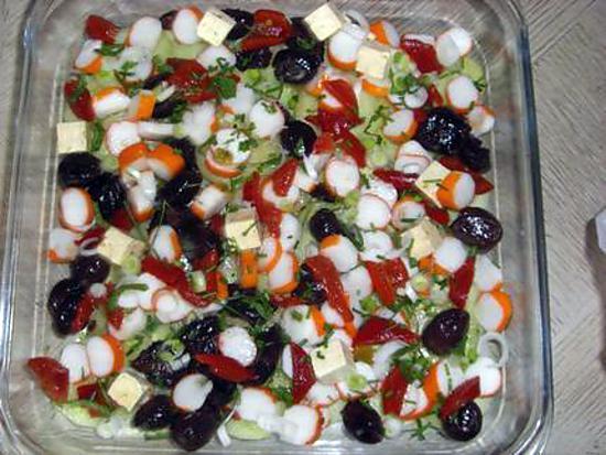 Recette de salade fraicheur par mefi sieu d aqui for Entree fraicheur rapide