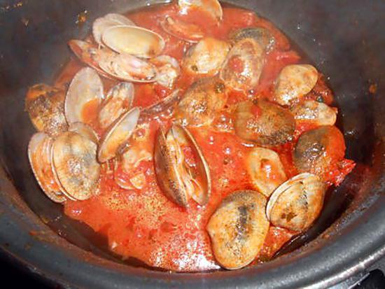 recette SAUCE AUX PALOURDES (pour spaghetti)