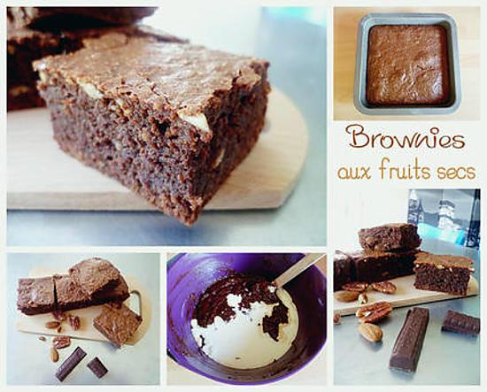 recette Brownies au chocolat et fruits secs