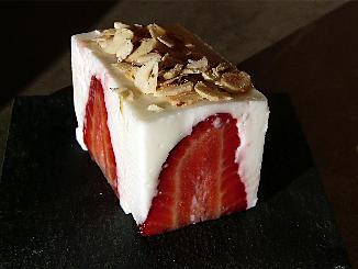 recette cube light aux fraises