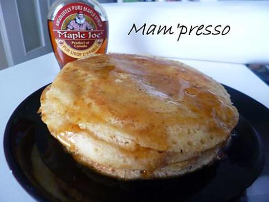 recette Pancakes végétaliens au sirop d'érable