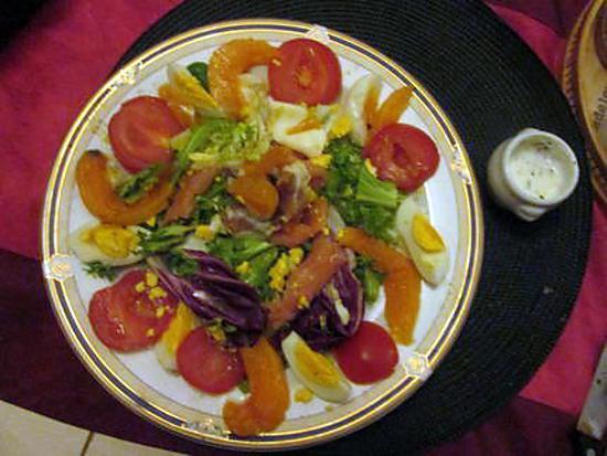 recette assiette crudités avec melon