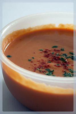 recette Soupe de potiron à la tomate