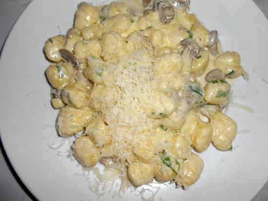 gnocchi crème champignons 430