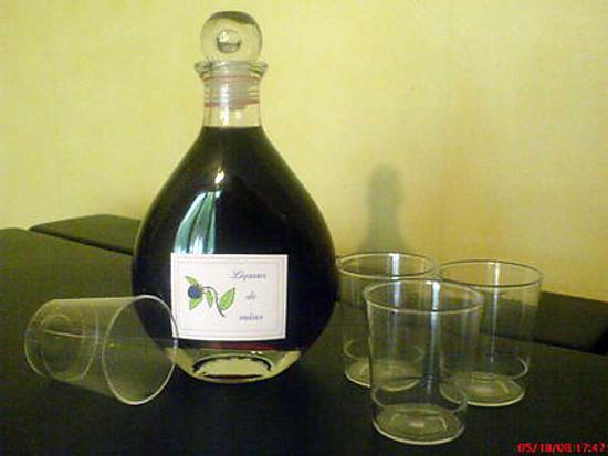 recette Liqueur de mûres