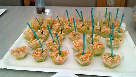 recette verrines avocat crevettes
