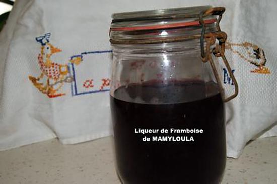 recette Liqueur de Framboises