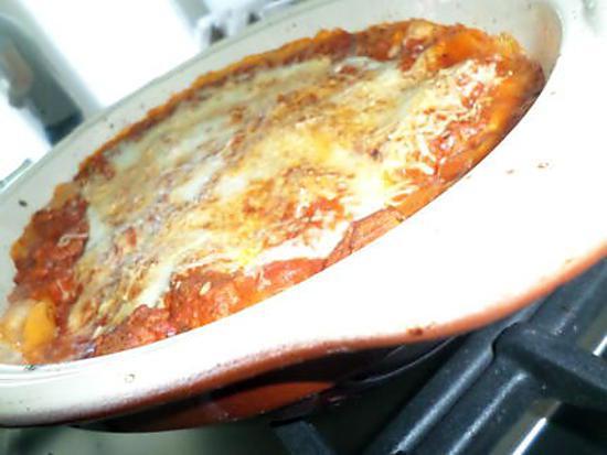 recette Lasagnes à la bolognaise et mozzarella