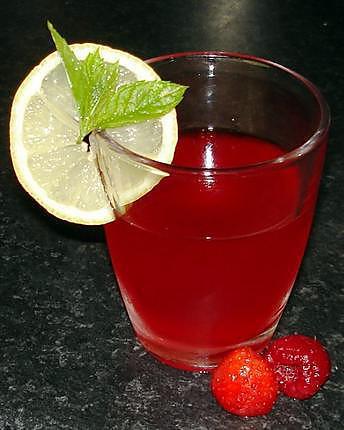 recette Jus de fraises (et framboises) frais