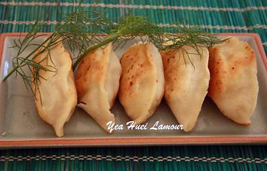 recette Raviolis frits (la farce de poisson avec des aneth)
