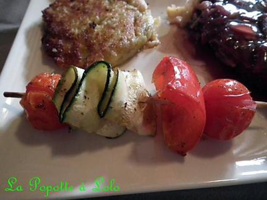 recette Minis brochettes de légumes marinés
