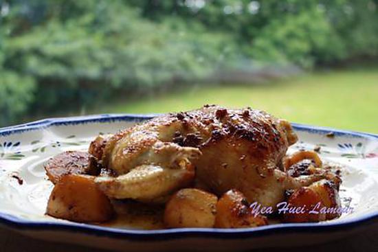 recette Coquelet jaune rôti à sept -épice Japonaise et sauge