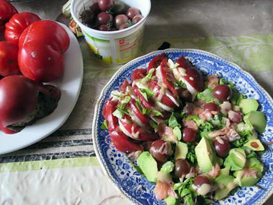 recette assiette tomate  mozarella ;;recette revisitée de jeanmerode  et ds le nord