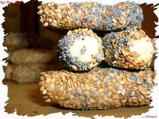 recette Ooo Petits biscuits amandes, sésame, pavot à la fleur d'oranger ooO