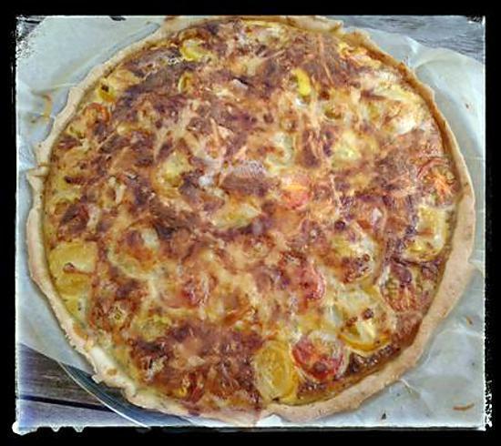 recette Tarte aux tomates cerise et roquefort au thermomix ou sans