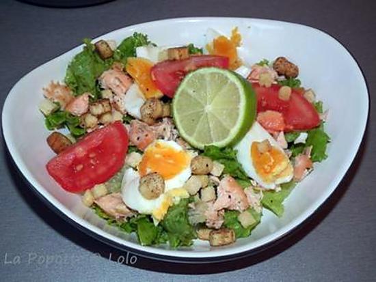 recette Salade au saumon croustillant