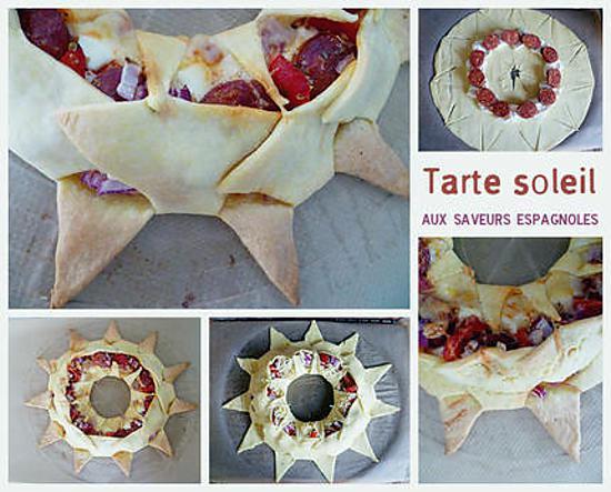 recette Tarte soleil aux saveurs espagnoles