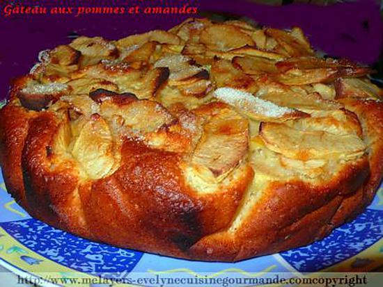 recette Gâteau aux pommes et amandes