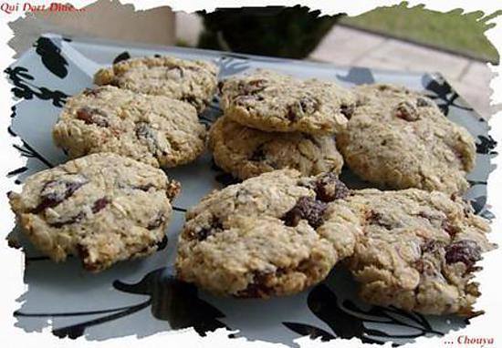 recette Ooo Croustillants avoine/raisins secs ( sans beurre ) ooO