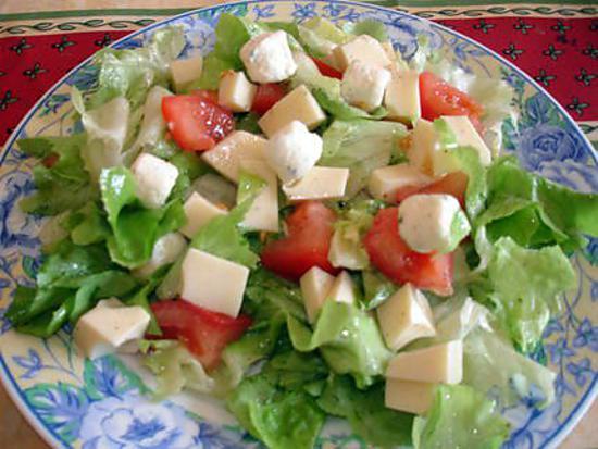 Célèbre Recette de Salade composée au boursin ail et fines herbes YV04