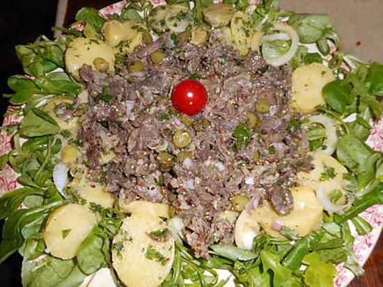 recette Salade de queue de boeuf a la parisienne