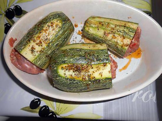 Courgettes farcies à la saucisse de toulouse 430