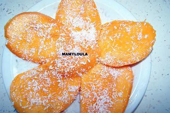 recette Carpaccio de mangue à la noix de coco