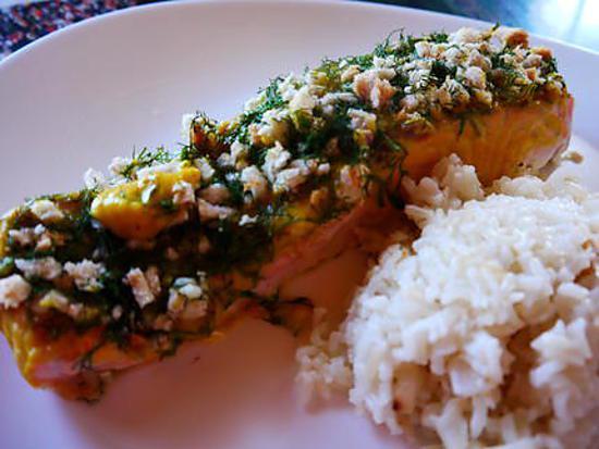 recette Saumon croustillant à la moutarde Savora