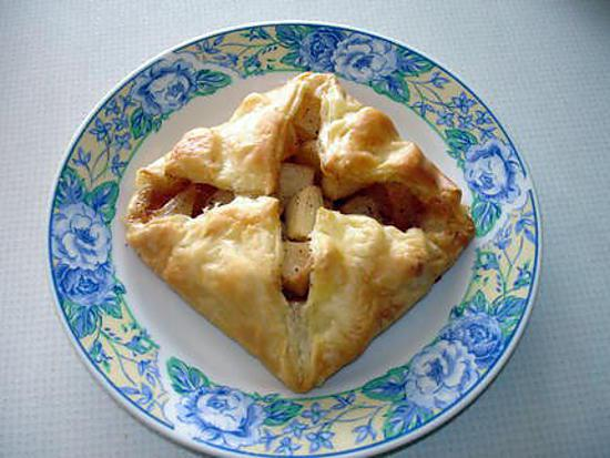 Recette de carr feuillet e aux pommes et cannelle - Feuillete aux pommes caramelisees ...