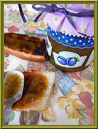 recette Confiture de prunes vanillées