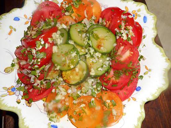 Recette de salade de tomates et courgette - Salade de tomates simple ...