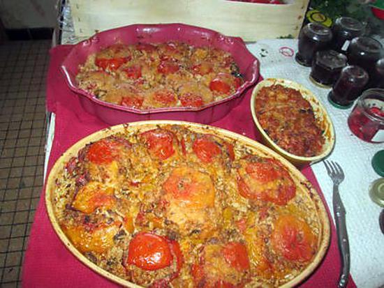 recette tomates farcies a ma façon  et un plat a la façon mamyloula  avec mon grain de sel