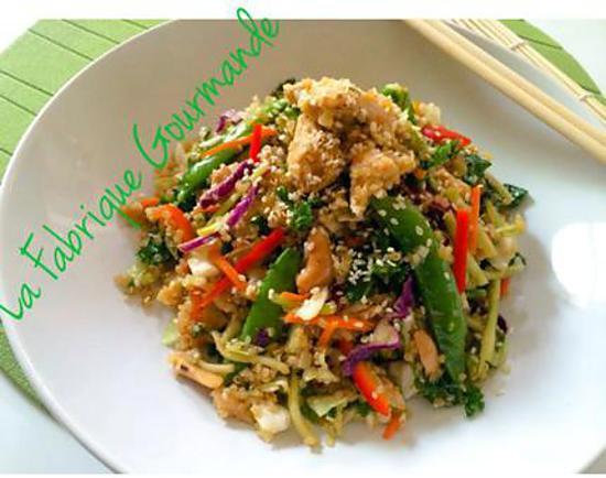 recette de salade de quinoa fa on asiatique. Black Bedroom Furniture Sets. Home Design Ideas