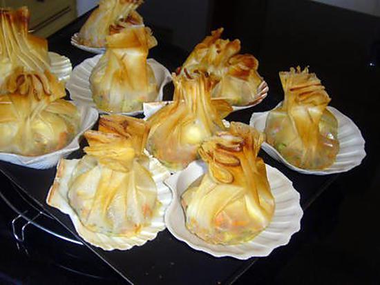 recette Aumônières de légumes et Saint Marcellin