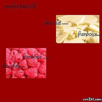 recette marbré chocolat blanc-framboise