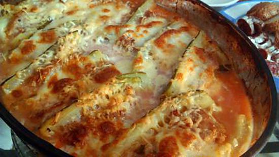 recette Courgette farci gratinée a la mozzarella