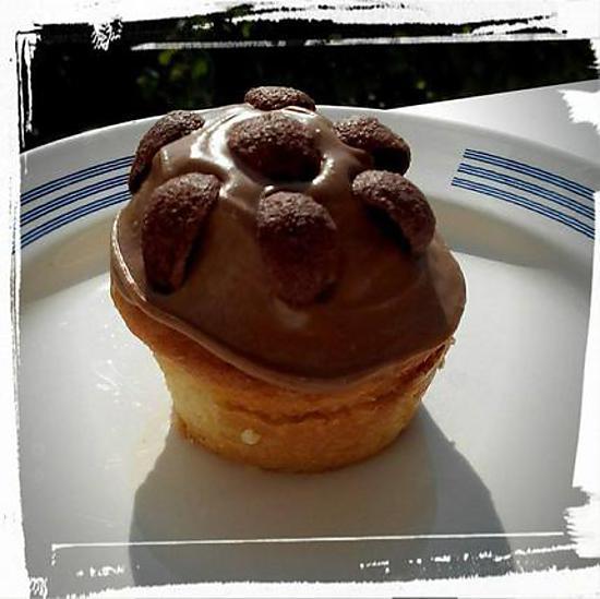 recette muffin crousti-moelleux à la pâte à tartiné chocolat-noix de coco