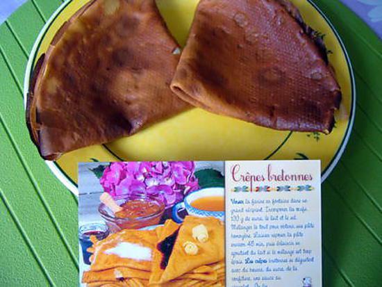recette Crêpes bretonnes