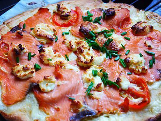 recette Pizza saumon boursin
