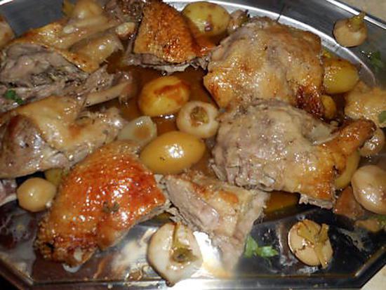 recette Canette rotie aux navets fanes et charlotte