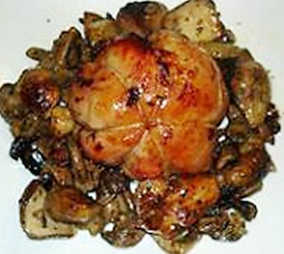 recette Ballotins de lapin farcis aux légumes et cèpes