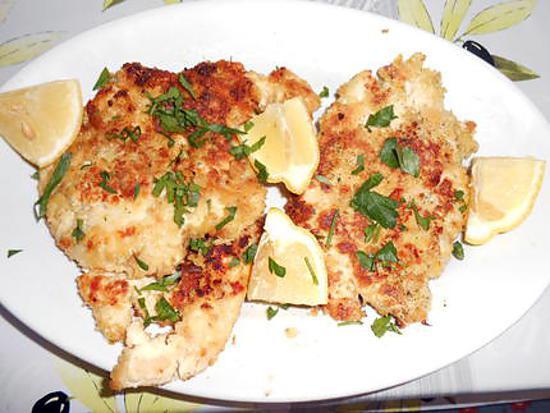 Escalopes de poulet panées au céleri 430