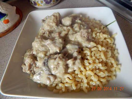 recette Filet de veau aux pâtes sauce mascarpone