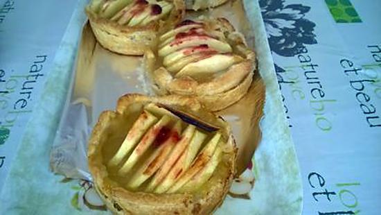 recette mini tartelettes aux pommes bio