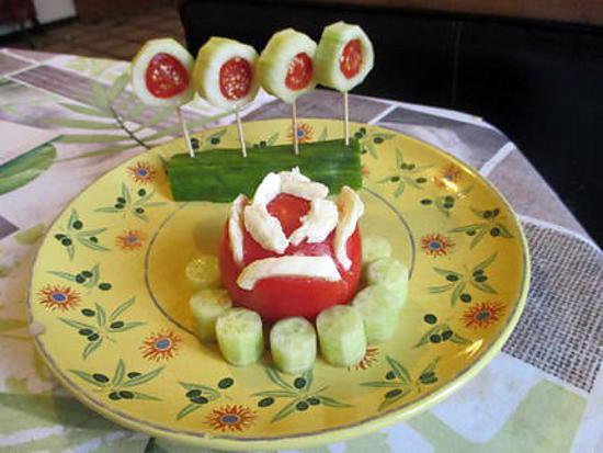 recette concombre tomate mozza