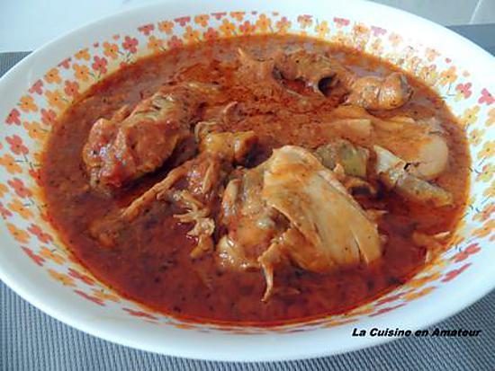 Recette de cuisse de poulet au paprika et tomates - Idee recette cuisse de poulet ...