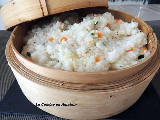 recette de riz aux herbes carotte courgette cuit dans le panier vapeur. Black Bedroom Furniture Sets. Home Design Ideas