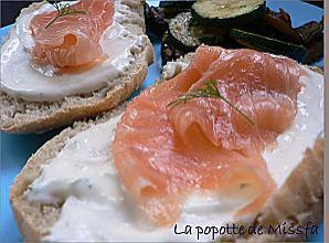 recette Tartine au saumon