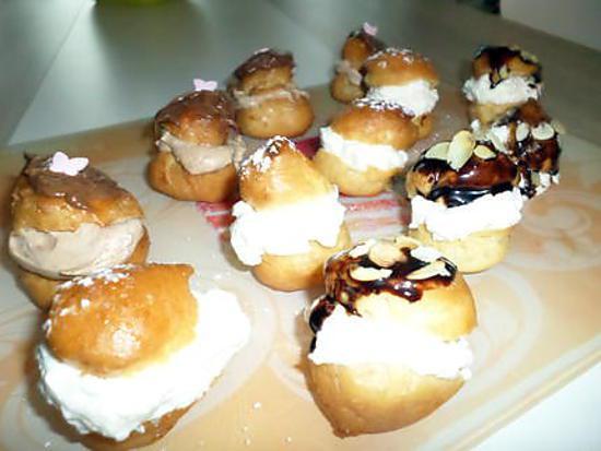 Recette d 39 assortiments de mini choux gourmand nature citron amandes nutella - Recette de mini dessert gourmand ...